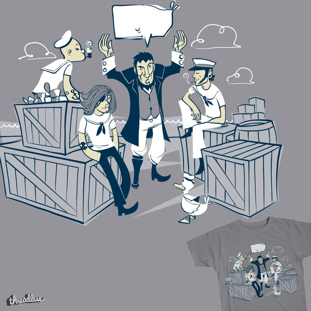 sailors stories (vintage) by spike00 on Threadless