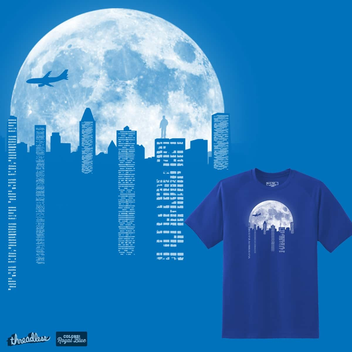 moon scape by pourhippie on Threadless