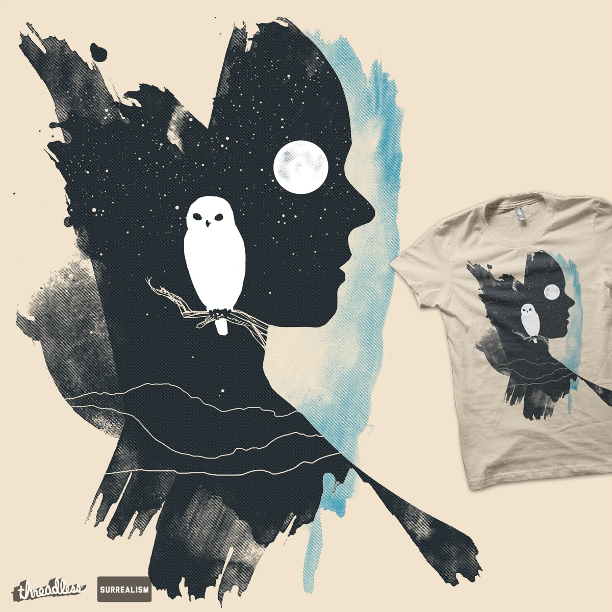 Portrait of Night-time by artistaggie on Threadless