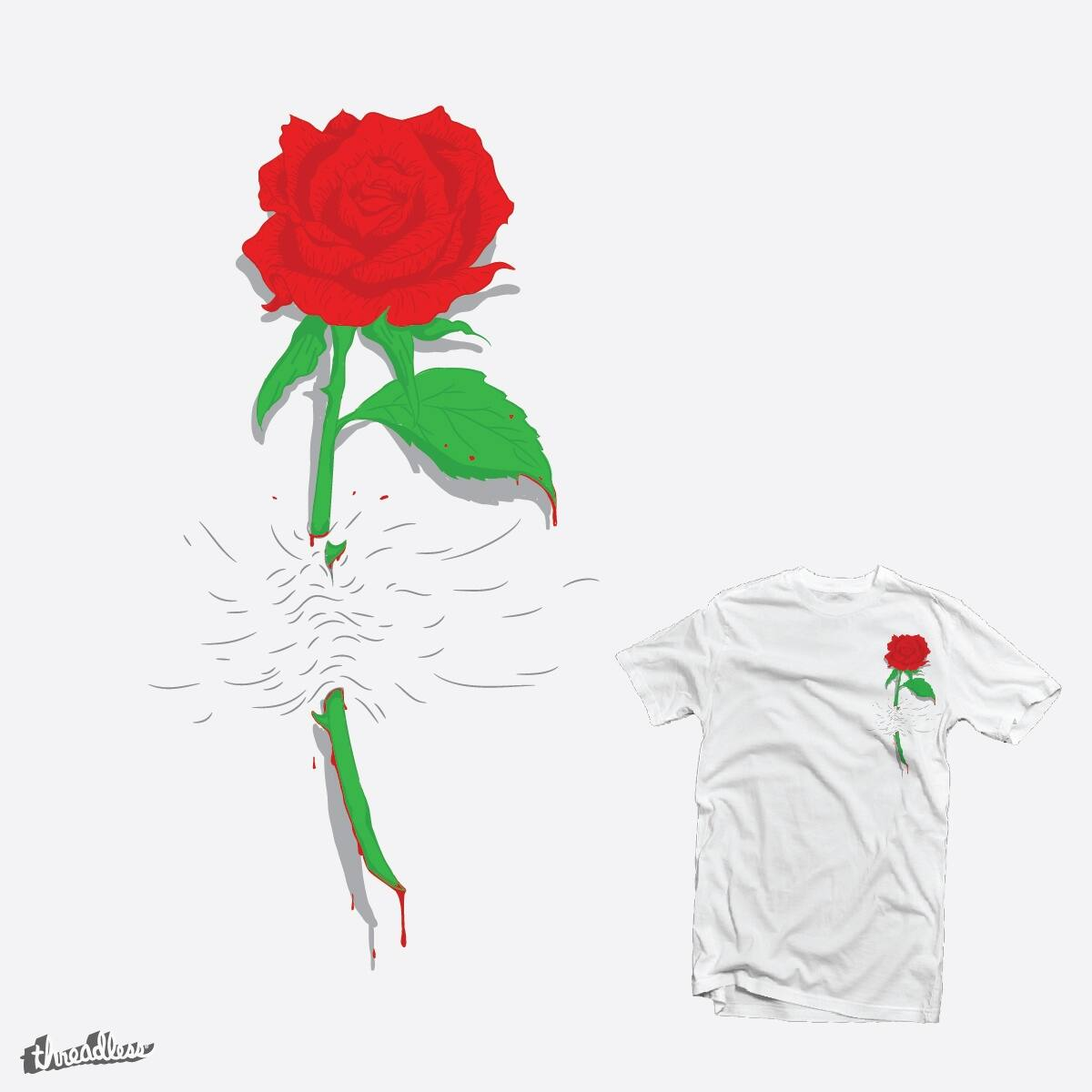 Rose by BacteriArt on Threadless