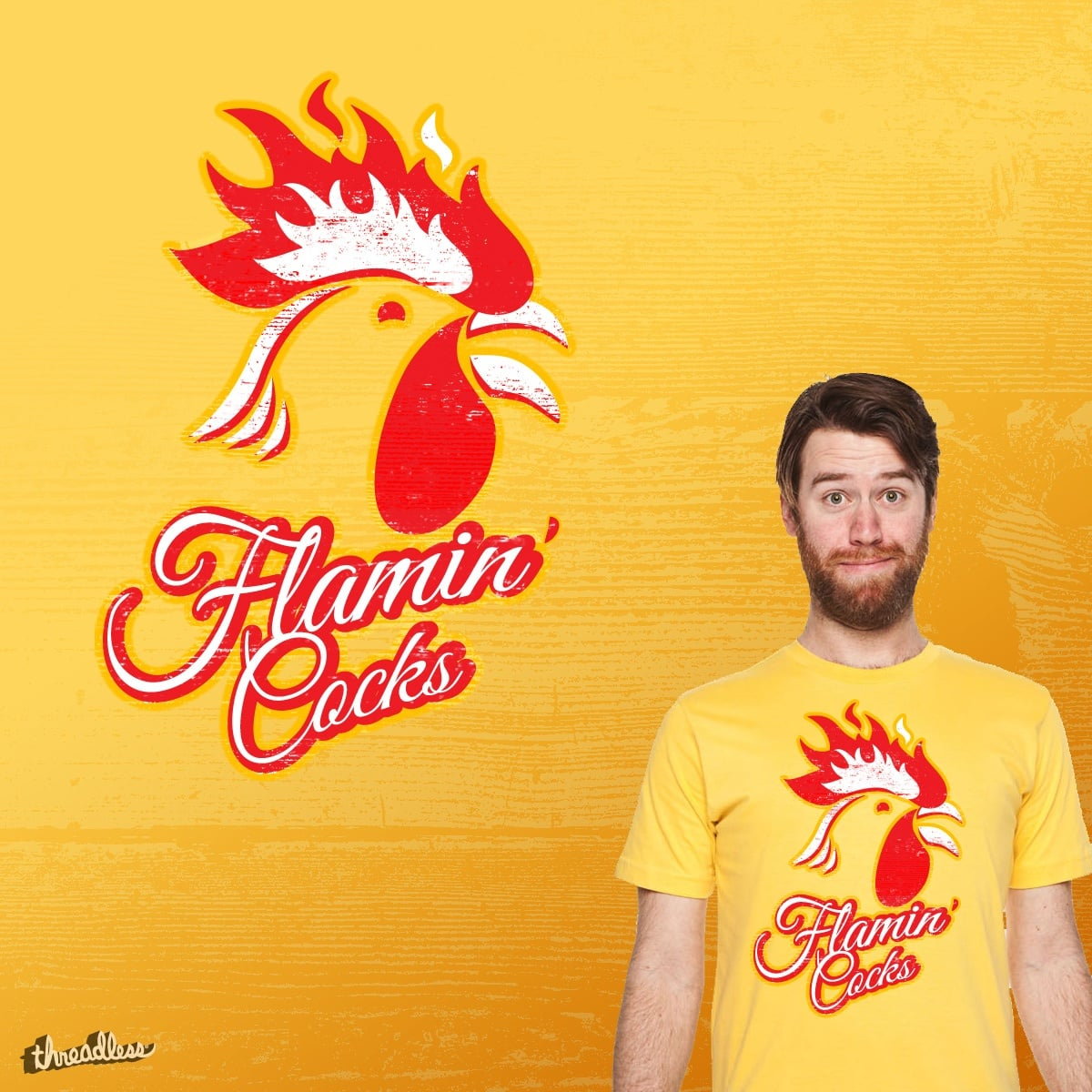Flamin' Cocks by Highgauge on Threadless