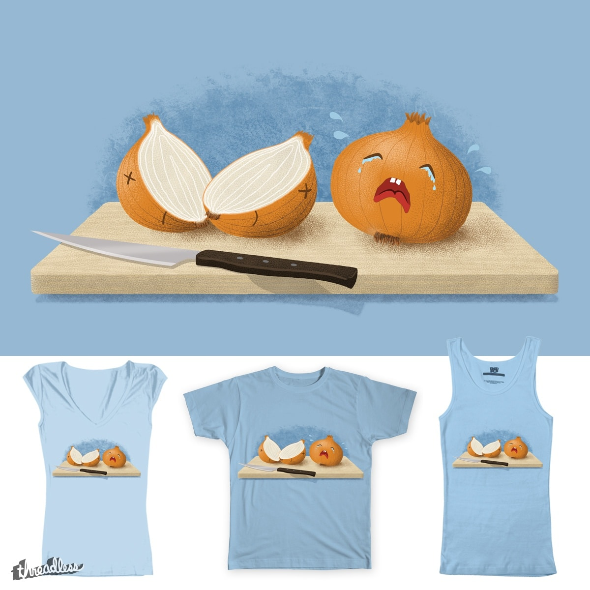 Can't Stop Crying by Candy Guru on Threadless