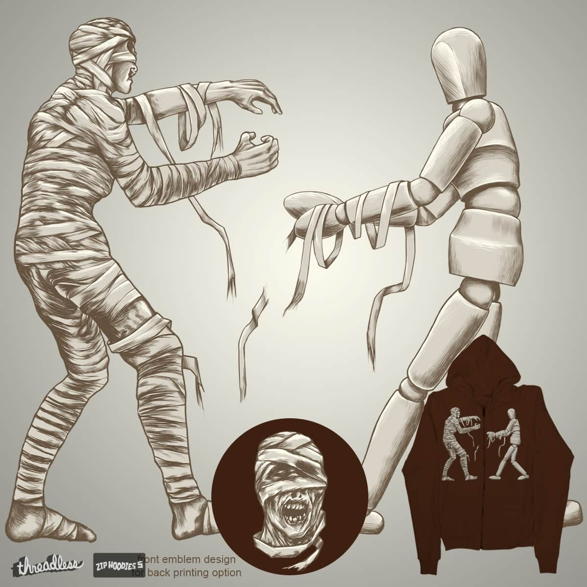 THE MUMMY & THE DUMMY by RGRLV on Threadless