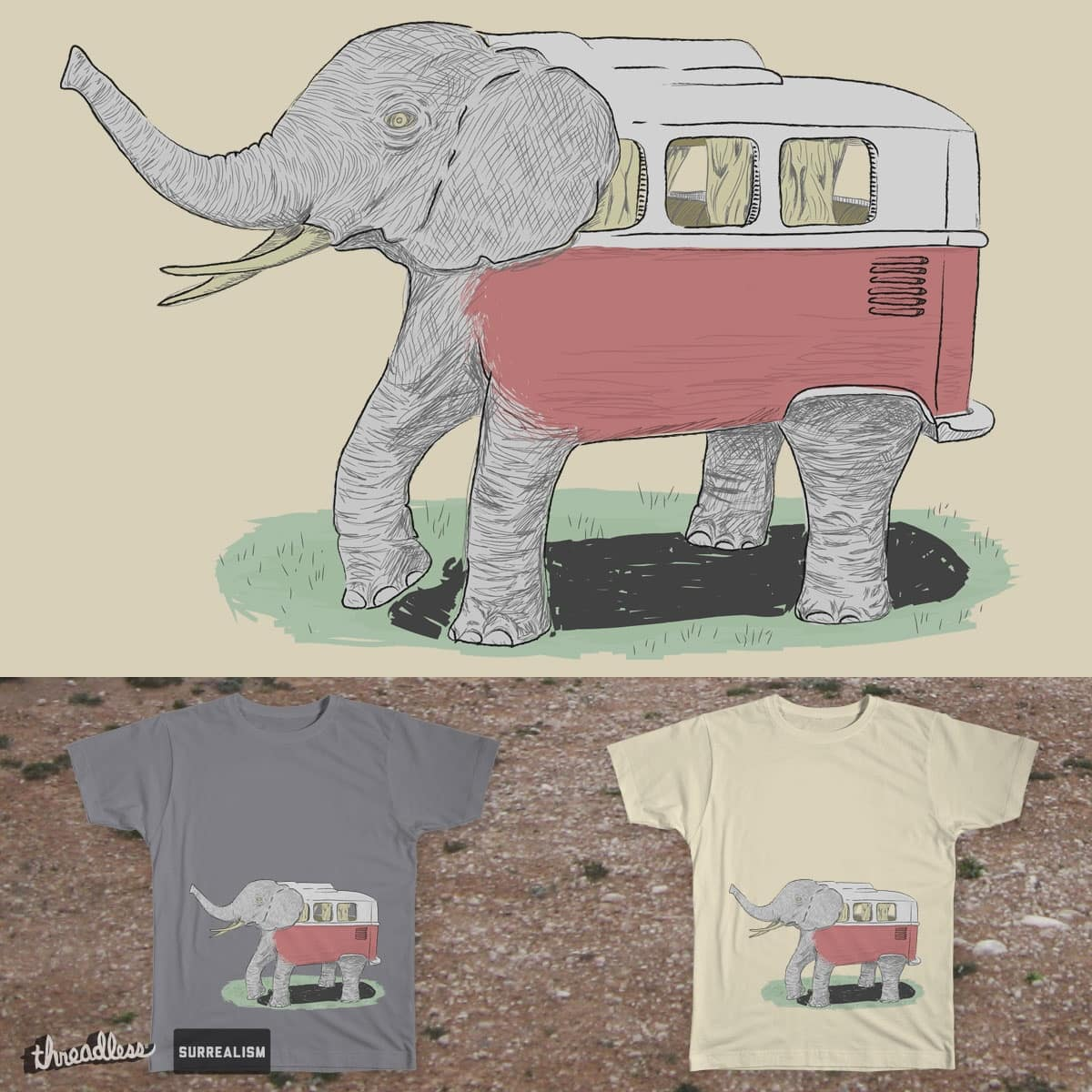 The Kombiphant by pencilfury on Threadless