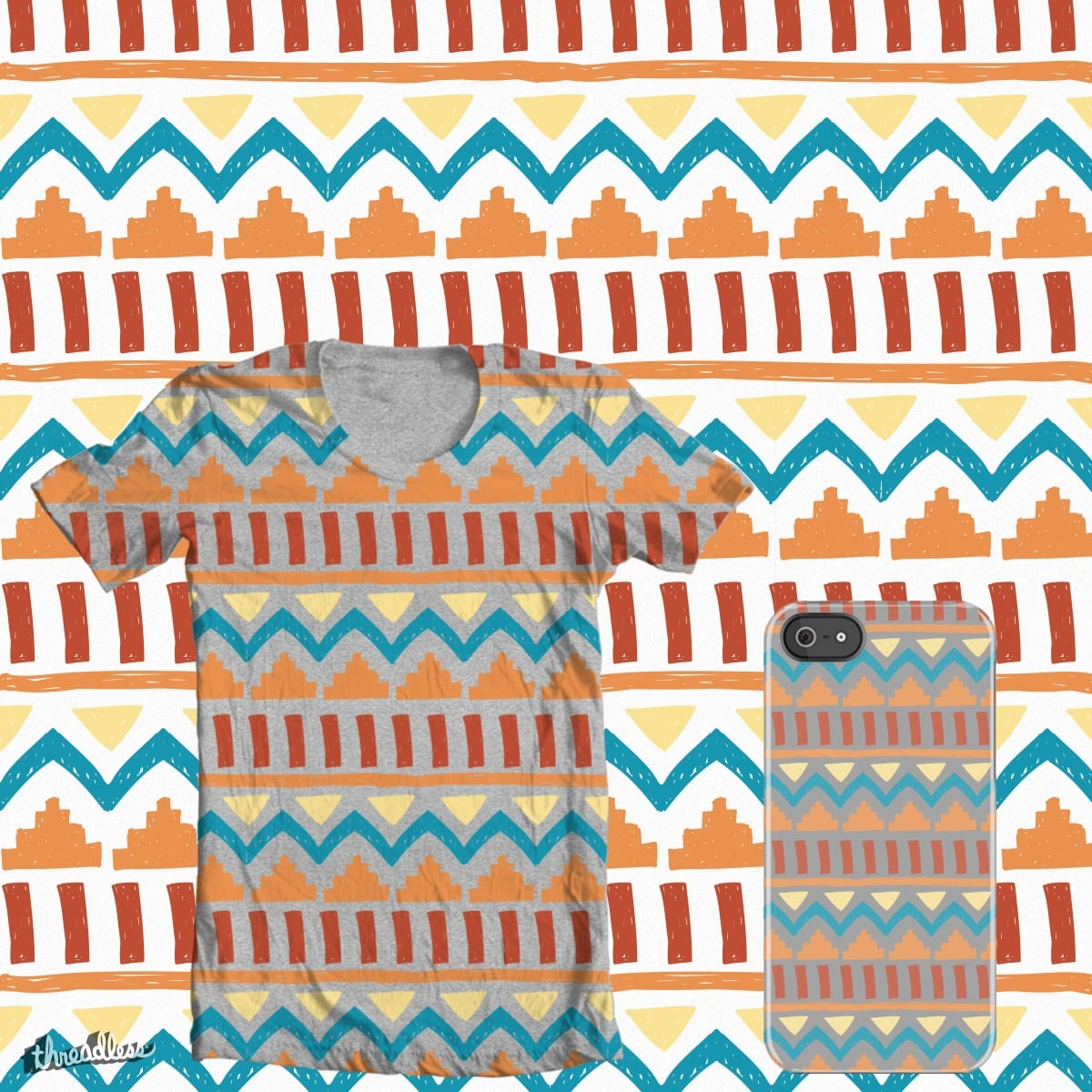 Aztec Pattern by JEMcintosh on Threadless