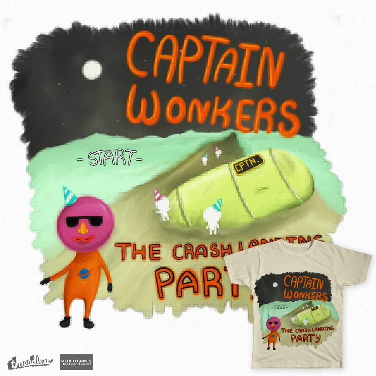 Captain Wonkers! by dsantrat on Threadless