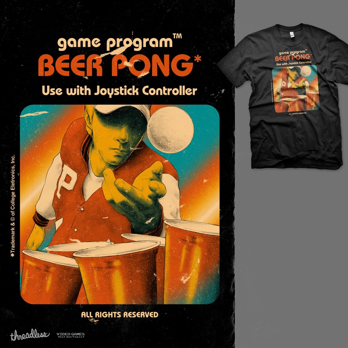 Beer Pong by mathiole and hafaell on Threadless