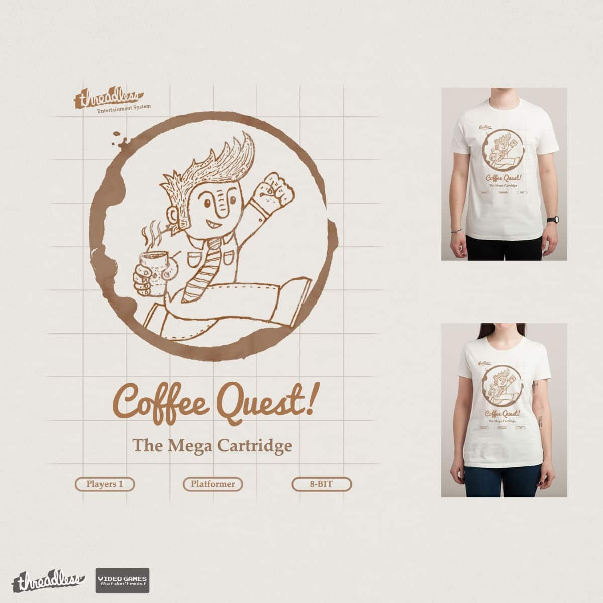 Coffee Quest! by Leo Canham on Threadless