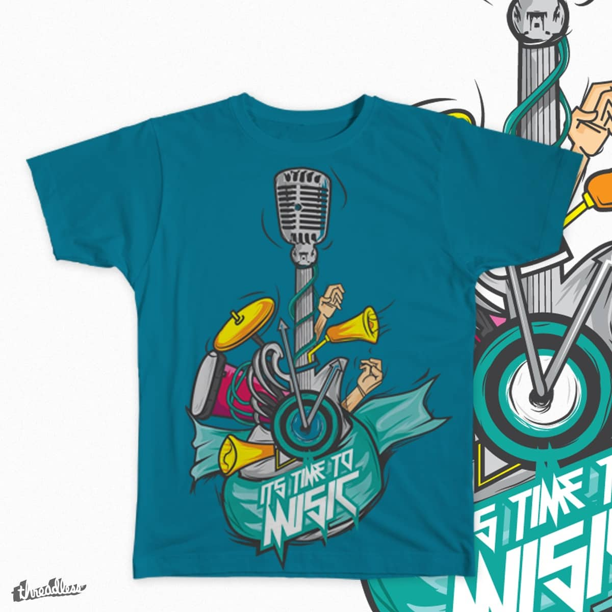 ITS TIME TO MUSIC by hendra95 on Threadless