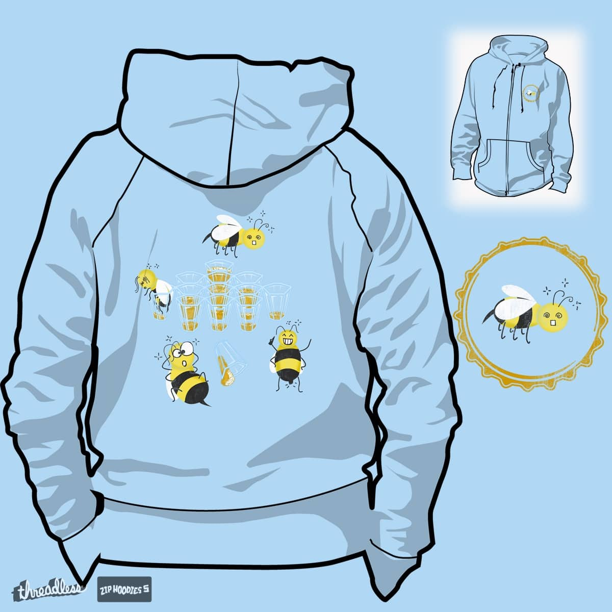 Bzzz Hik! by papaomaangas on Threadless