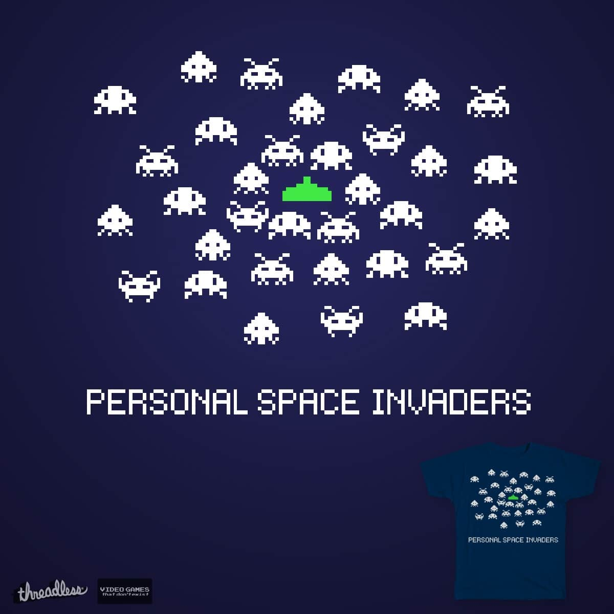 Personal Space Invaders by SafetyPenguin on Threadless
