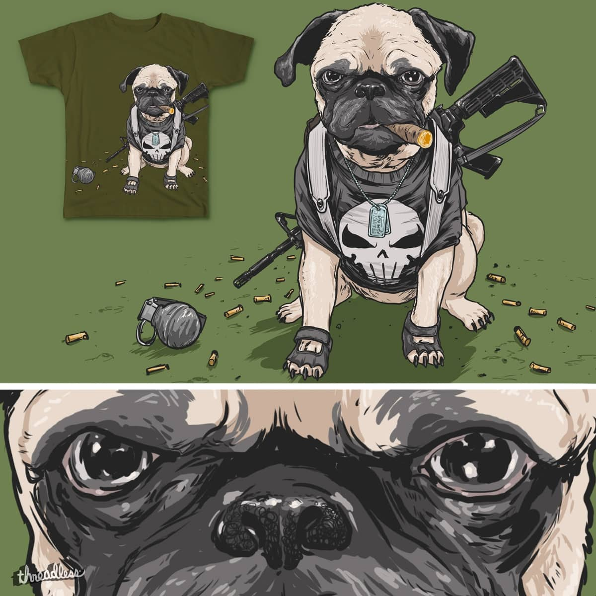 the PUGnisher by Josh_Sketchy on Threadless