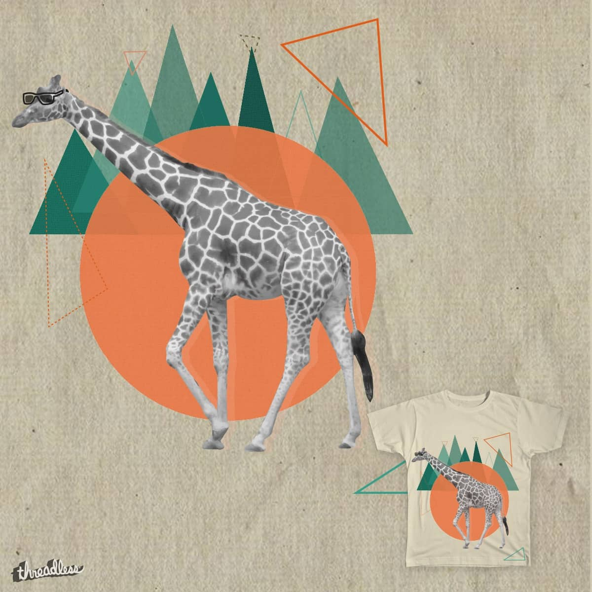 Giraffe walk by Parin on Threadless