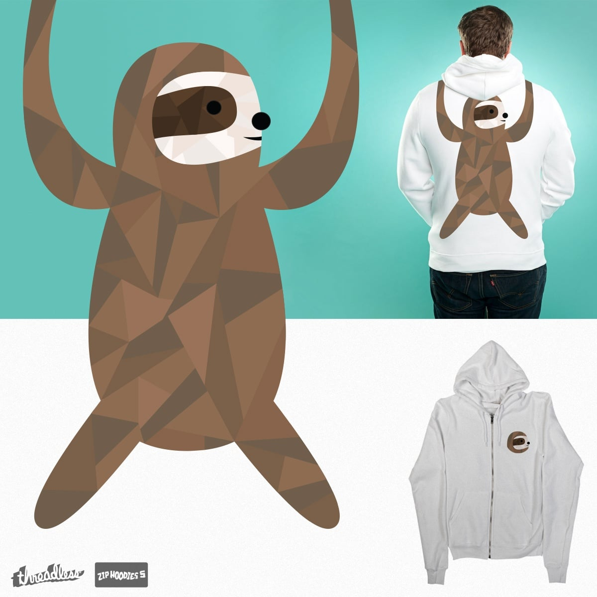 Clingy sloth by nintendo4ever on Threadless
