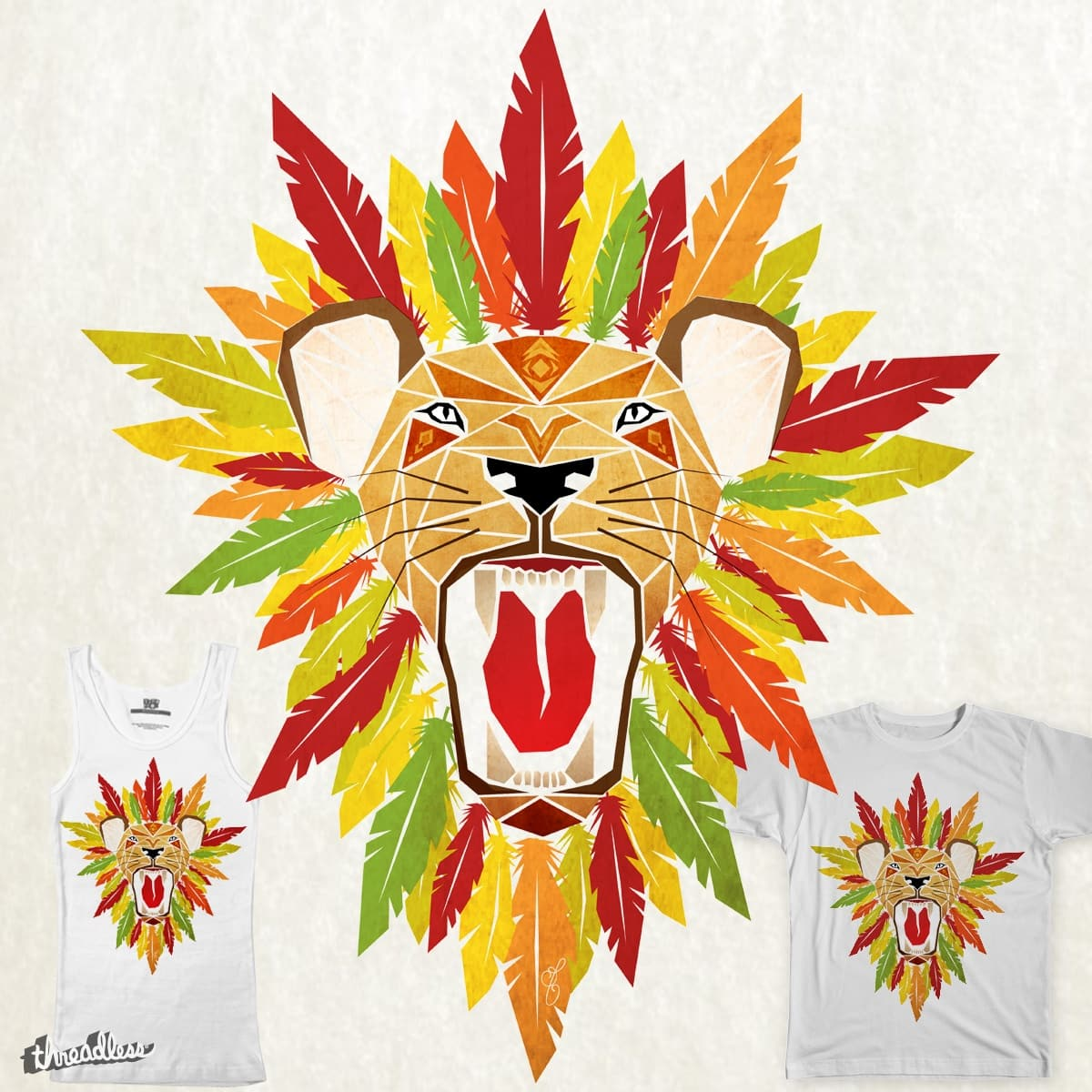 lion feathers by Manoou on Threadless