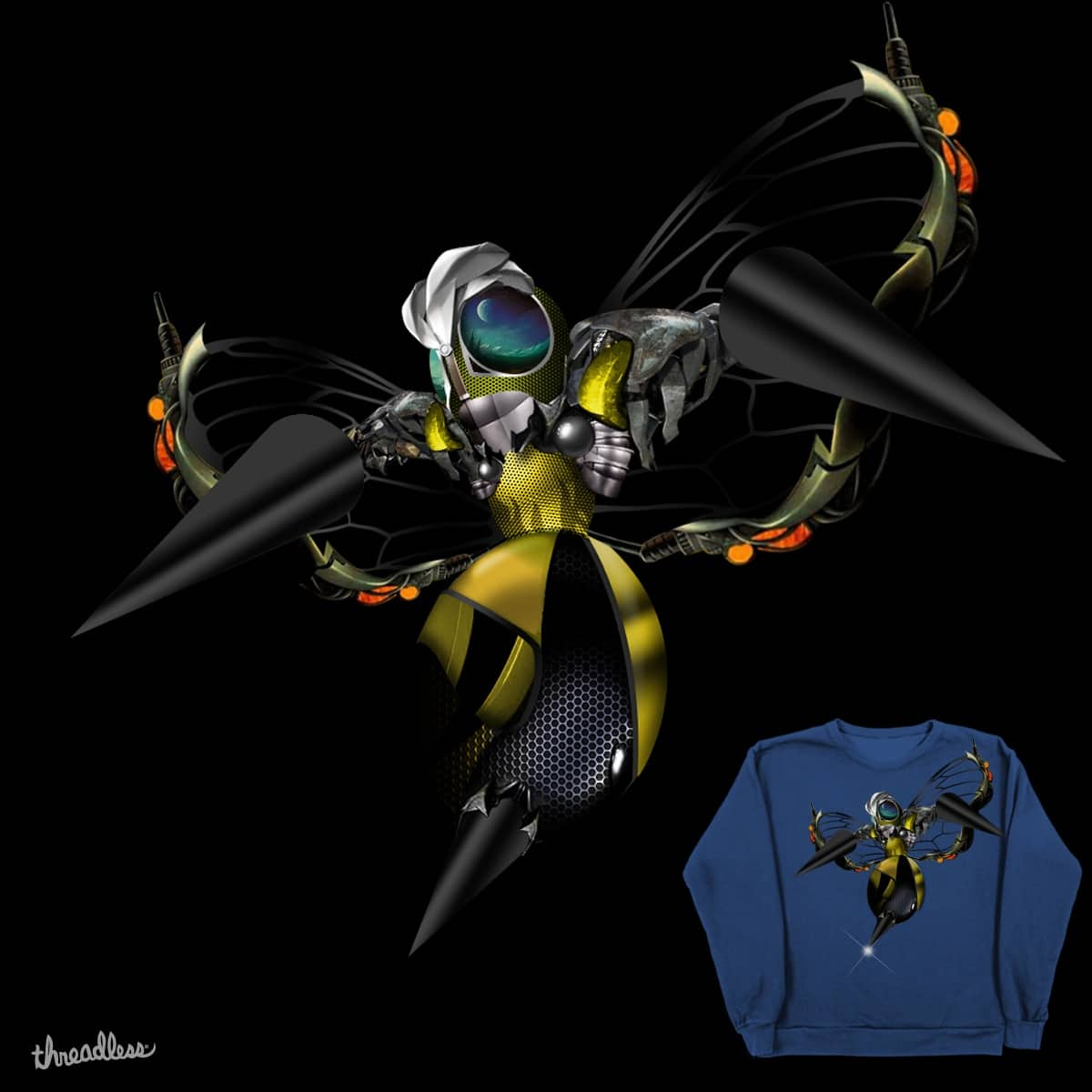 When Beedrill Joins Transformers by migagel30 on Threadless