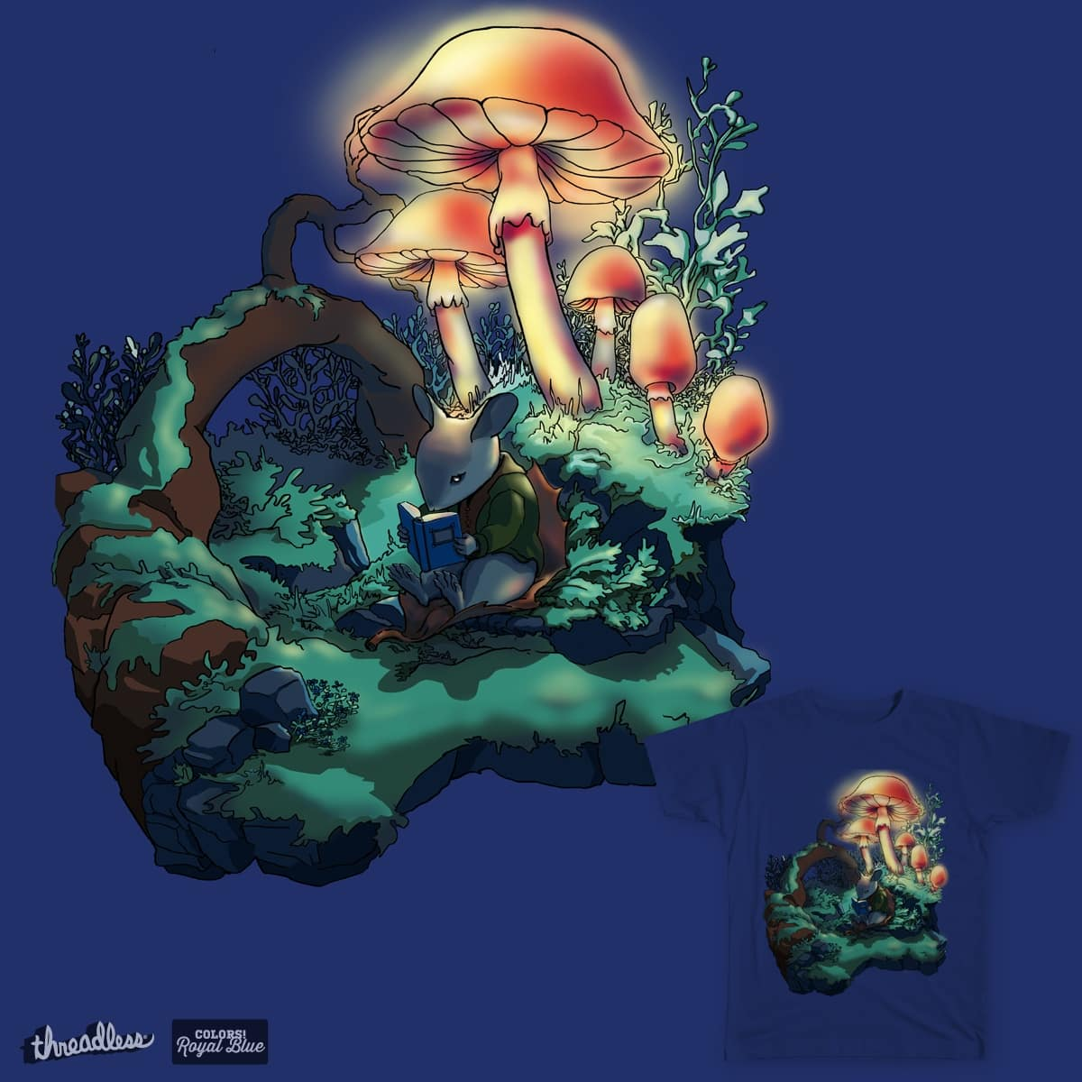 A Blue Tale  by Lizberries on Threadless