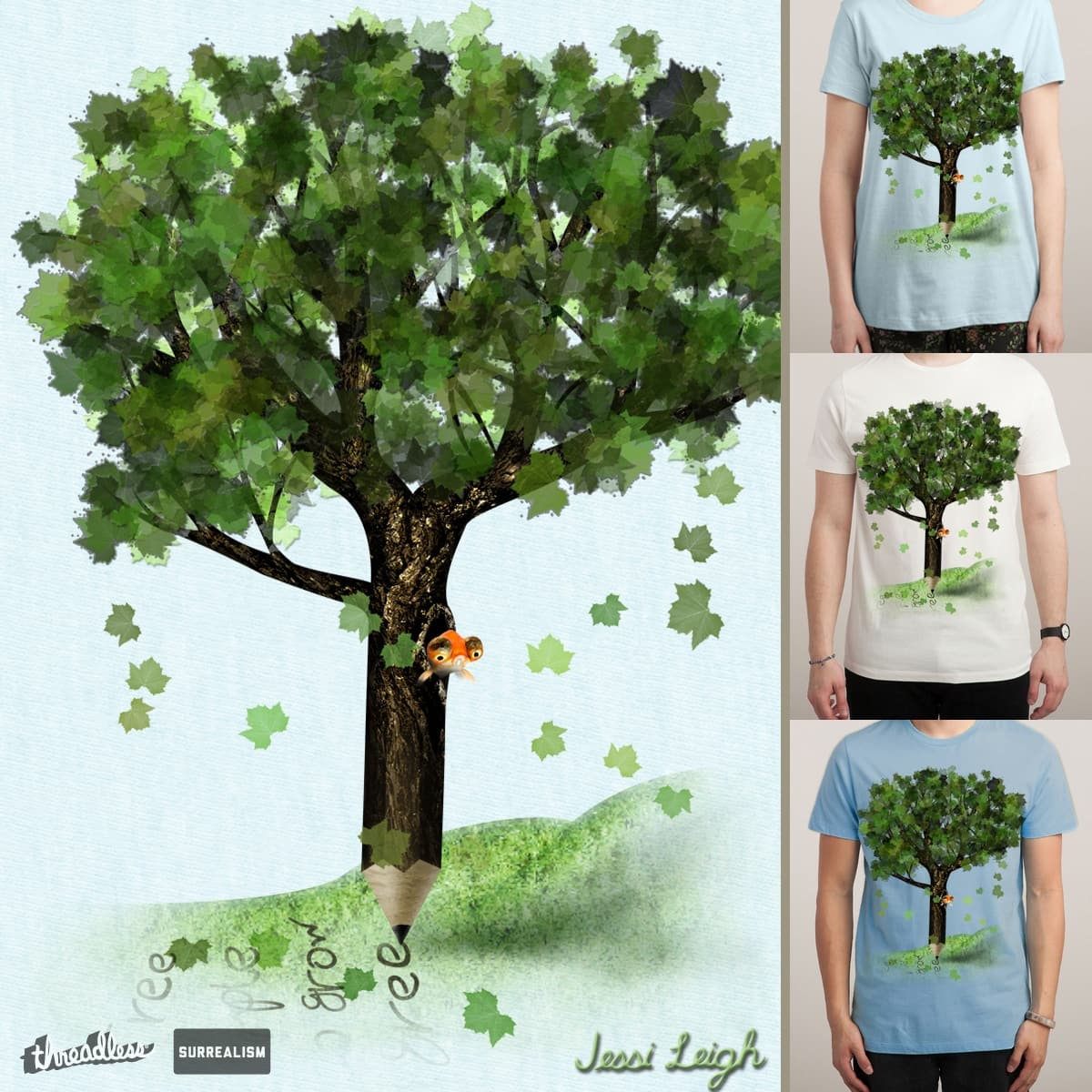 The Writing Tree by JessiLeigh on Threadless