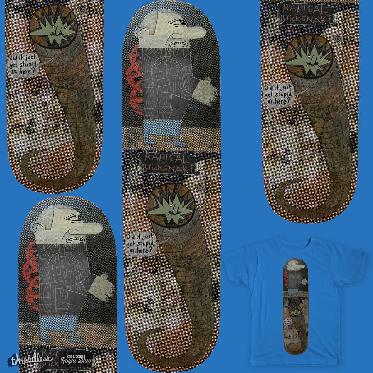 radical bricksnake skateboard by Peter Thompson on Threadless