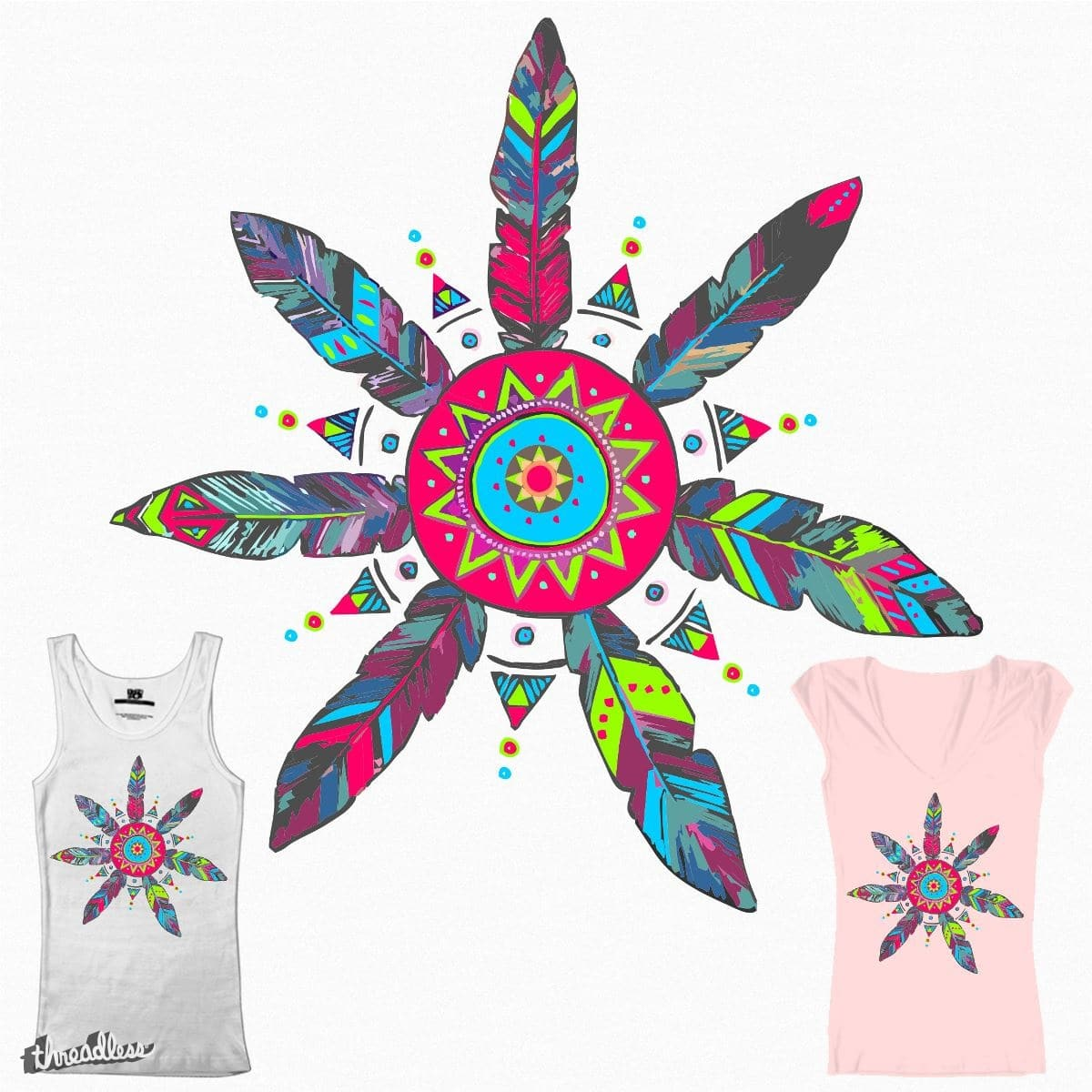 Feathers by thootha on Threadless