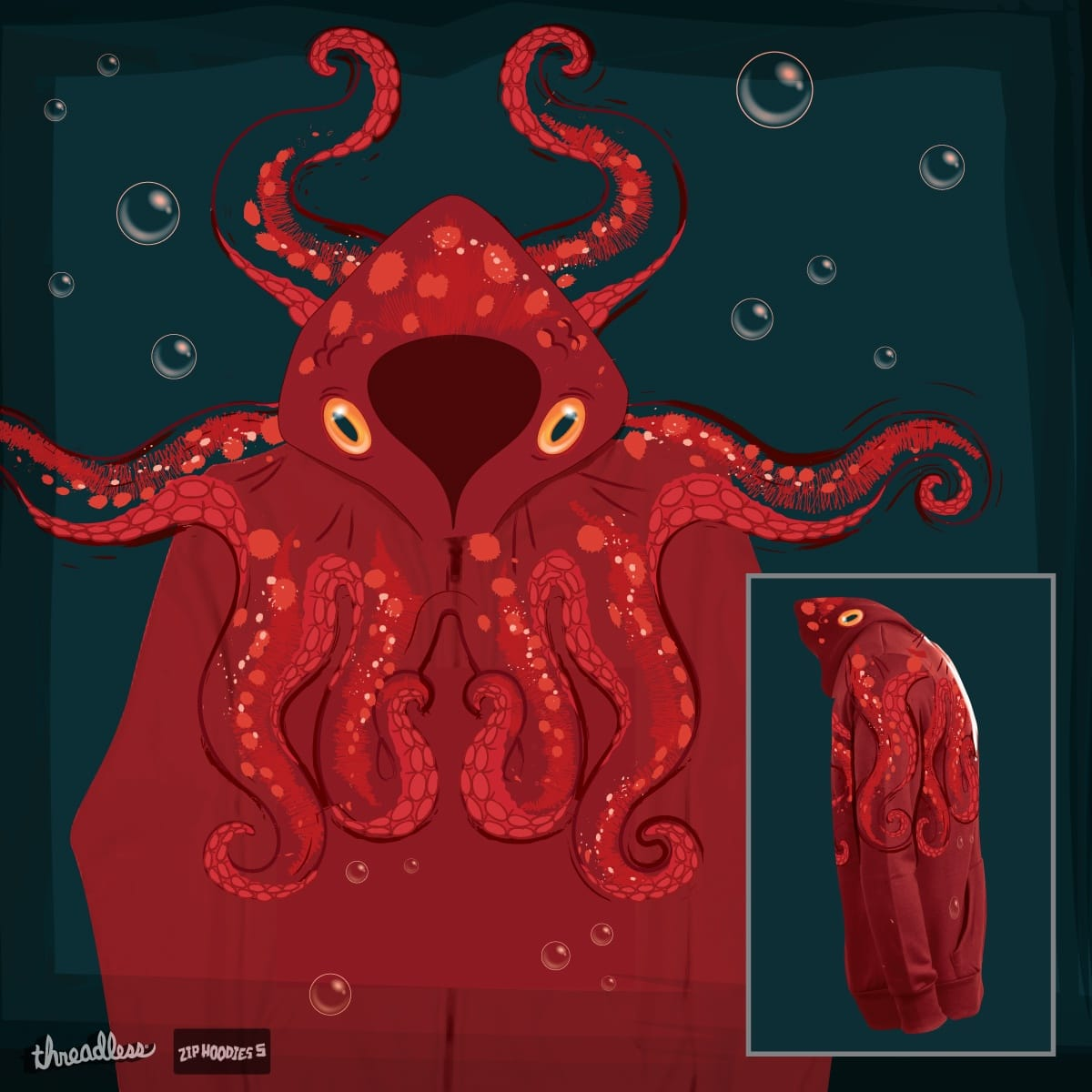 OctoHoodie by SJdzyn on Threadless