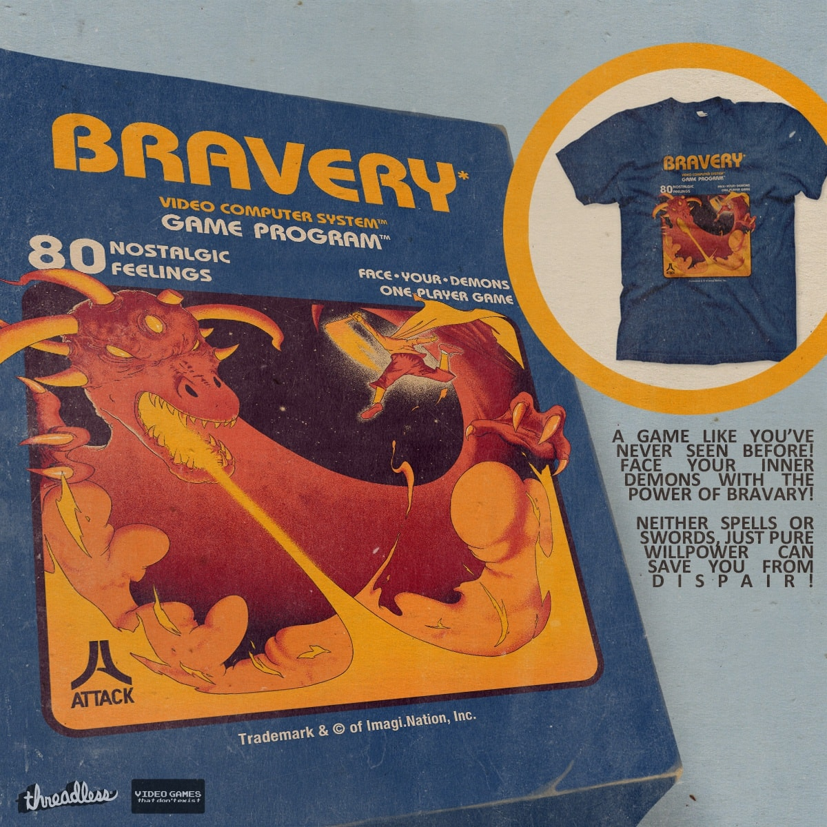 Bravery by mathiole on Threadless