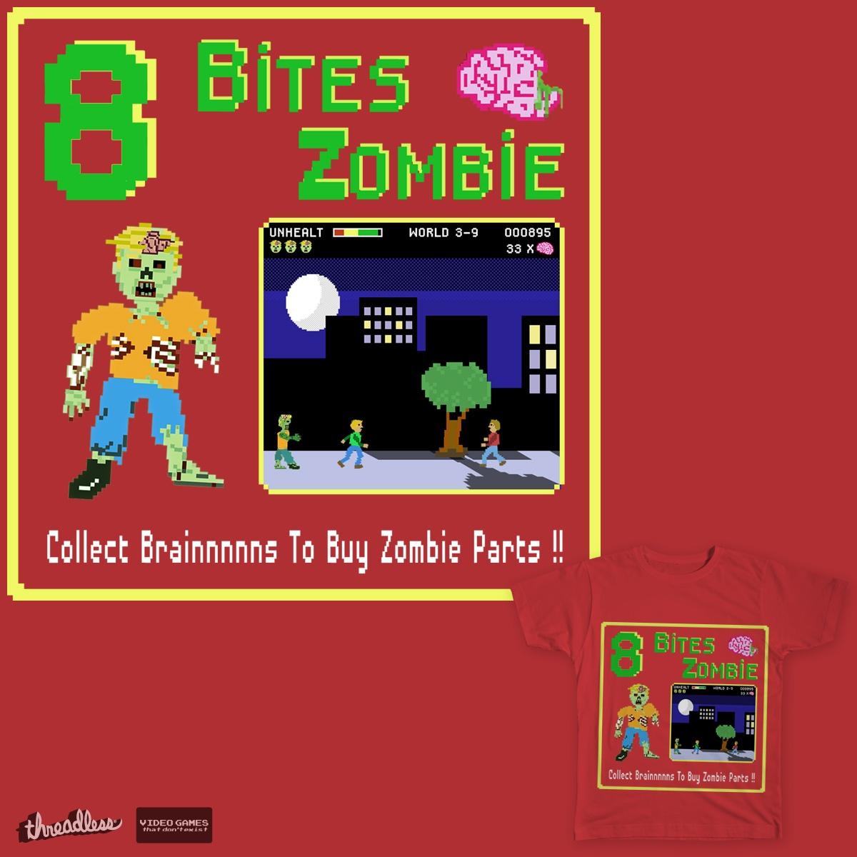 8 bites Zombie by S3Bizarre on Threadless