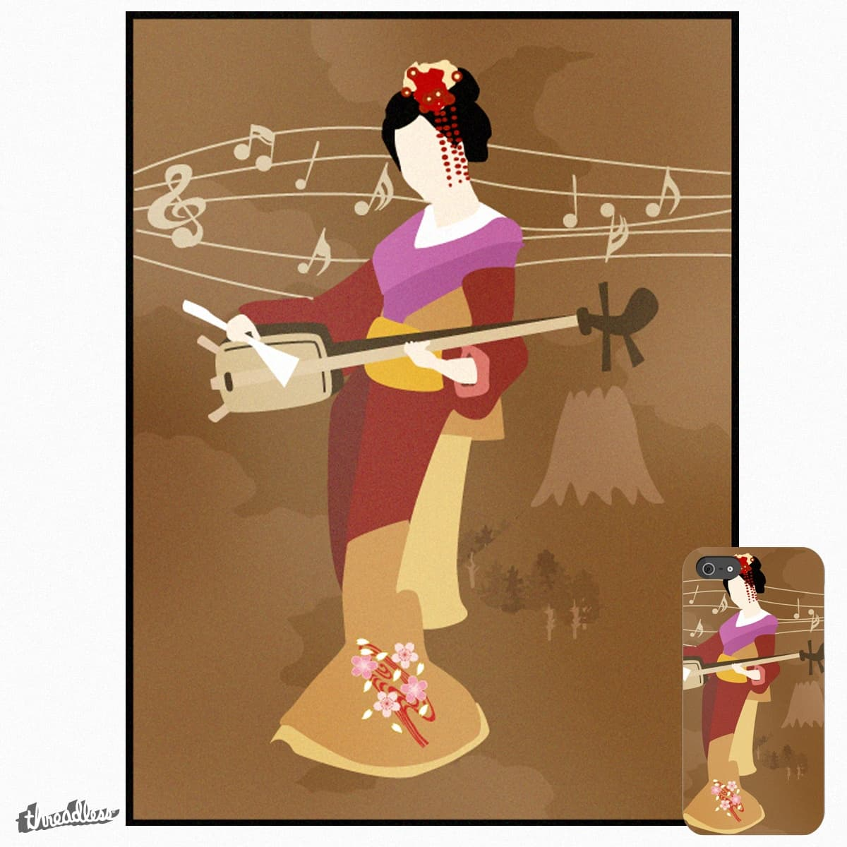 Shamisen by Strottmann on Threadless