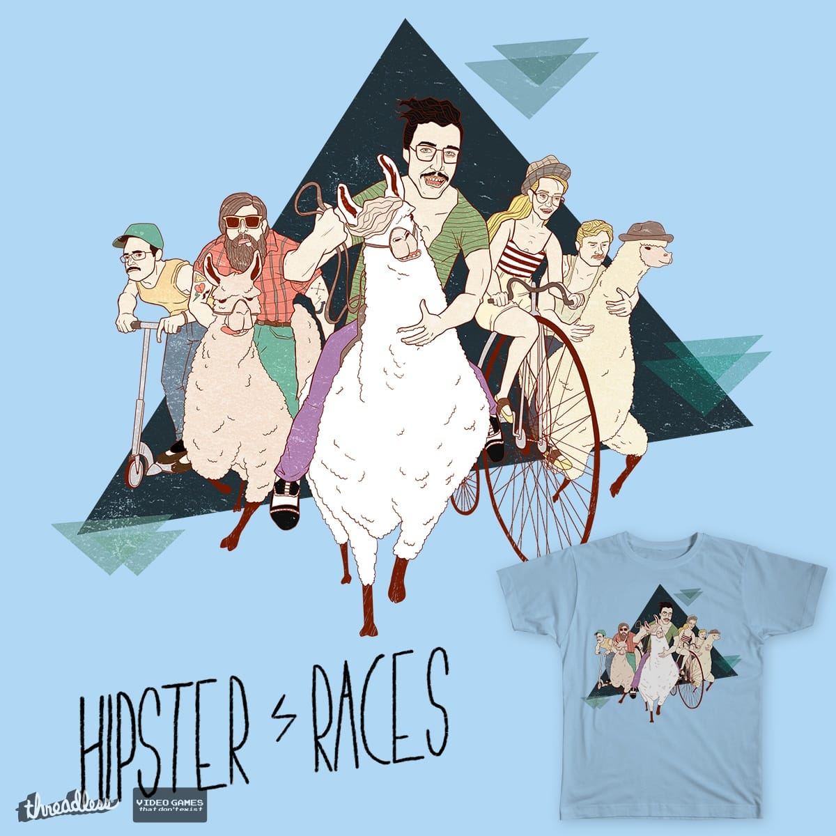 HIPSTER RACES by R.W. on Threadless