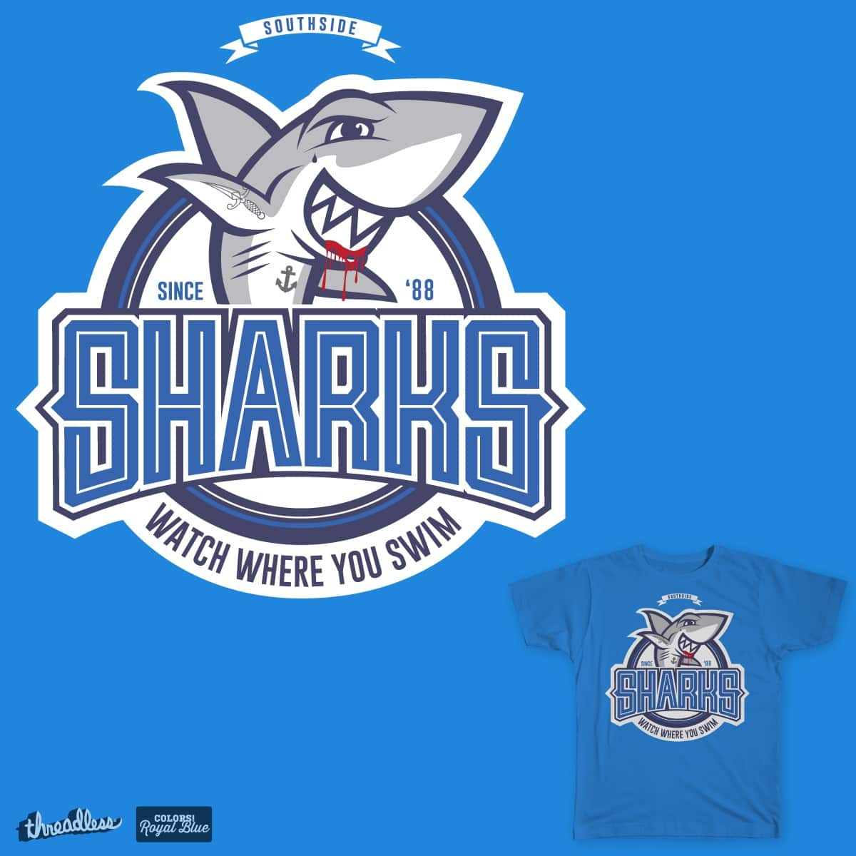 'Southside Sharks' by studiosucho on Threadless
