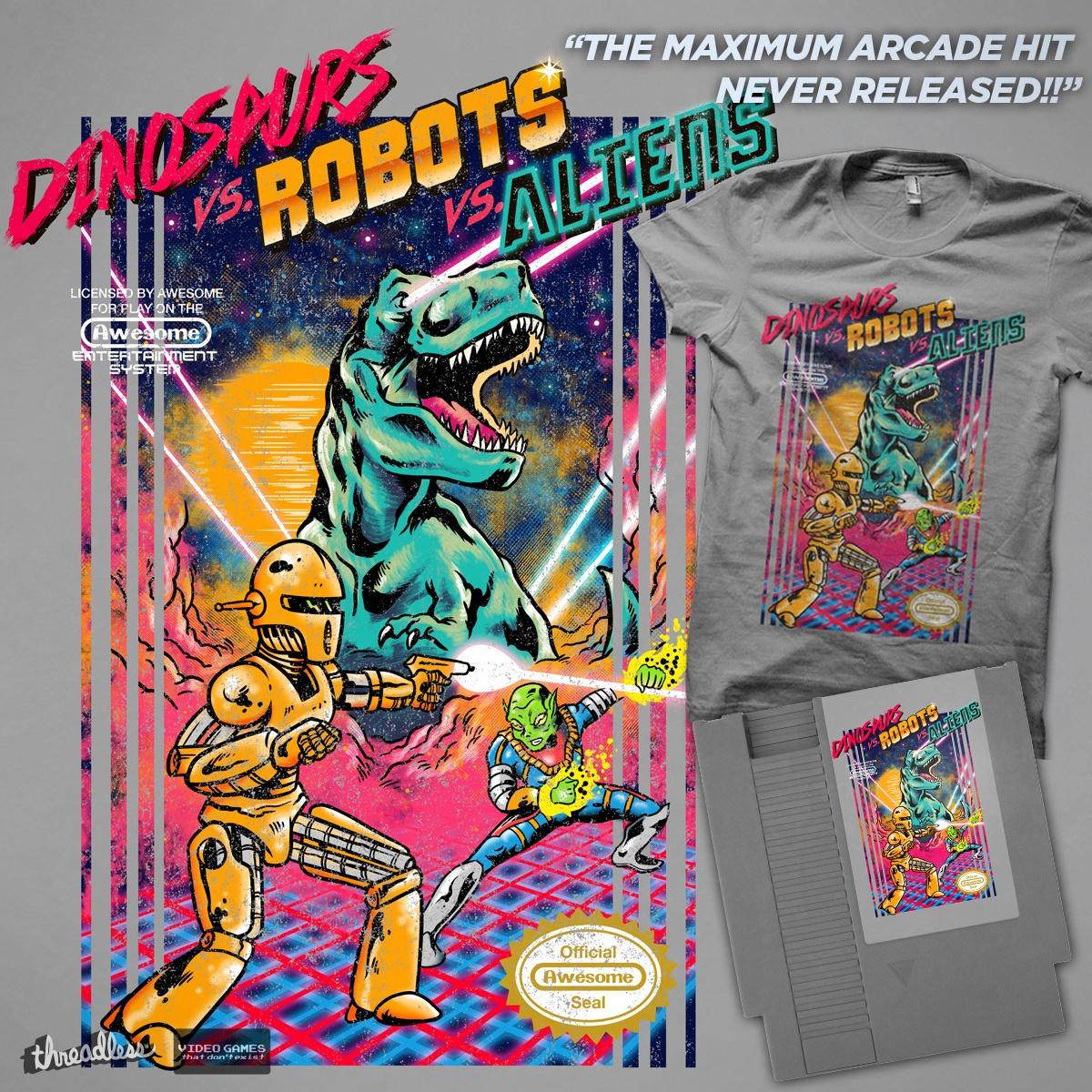 Aliens Robot Robots vs Aliens by