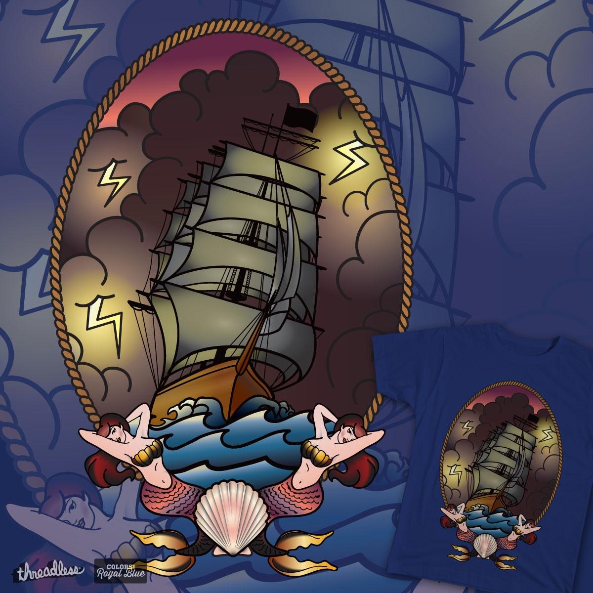 Mermaid Voyage by BrittneyLawrence on Threadless