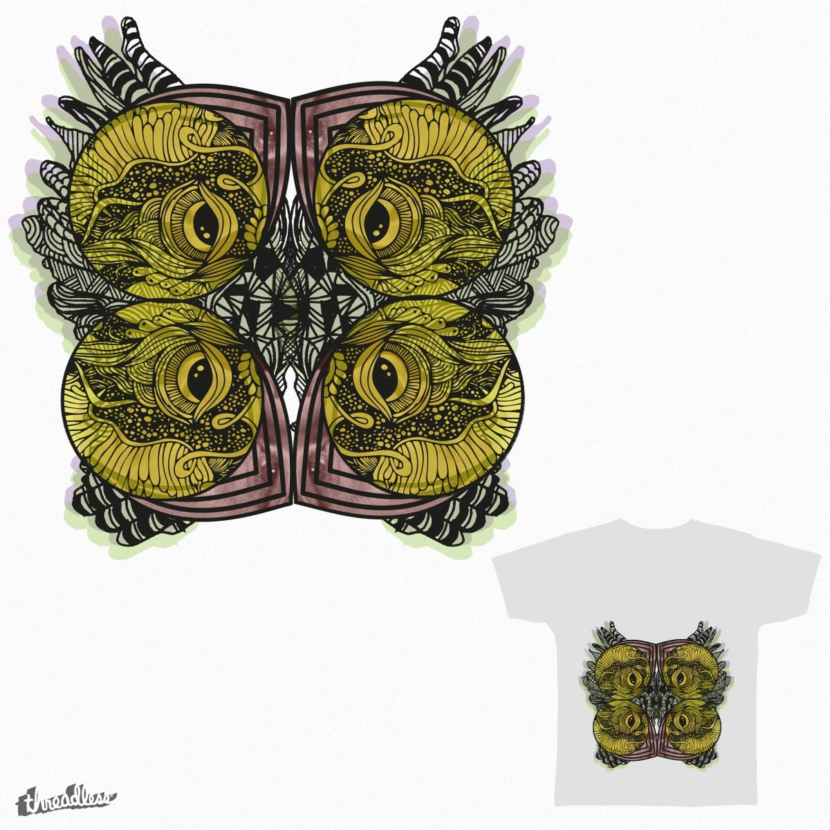 Midnight owl. by Samindri_De on Threadless