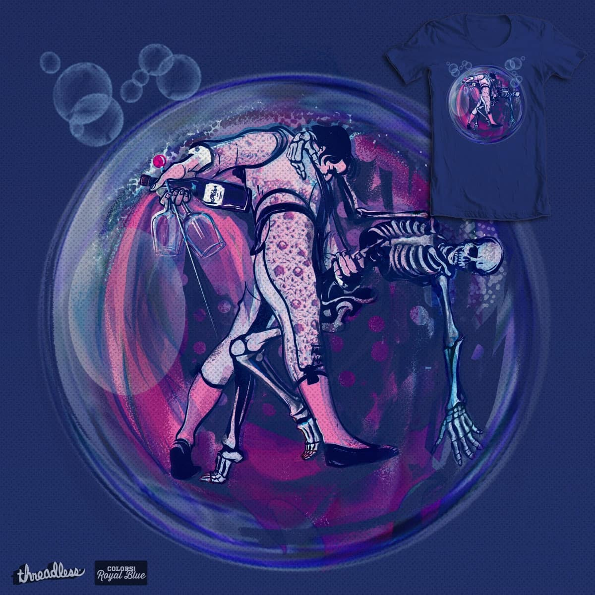 Royal bubble by dyefly on Threadless