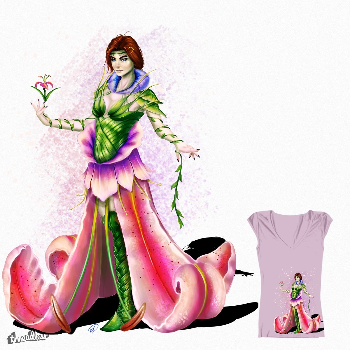 Flower Queen Girls Shirt by mjdstudios on Threadless