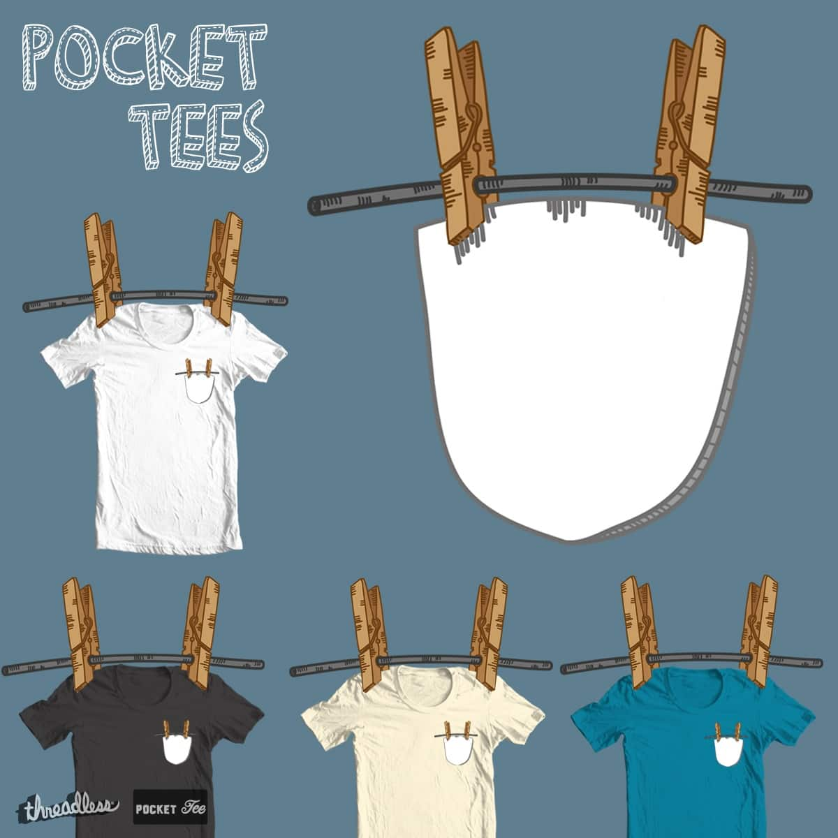 Pocket clean and dry by coclodesign on Threadless