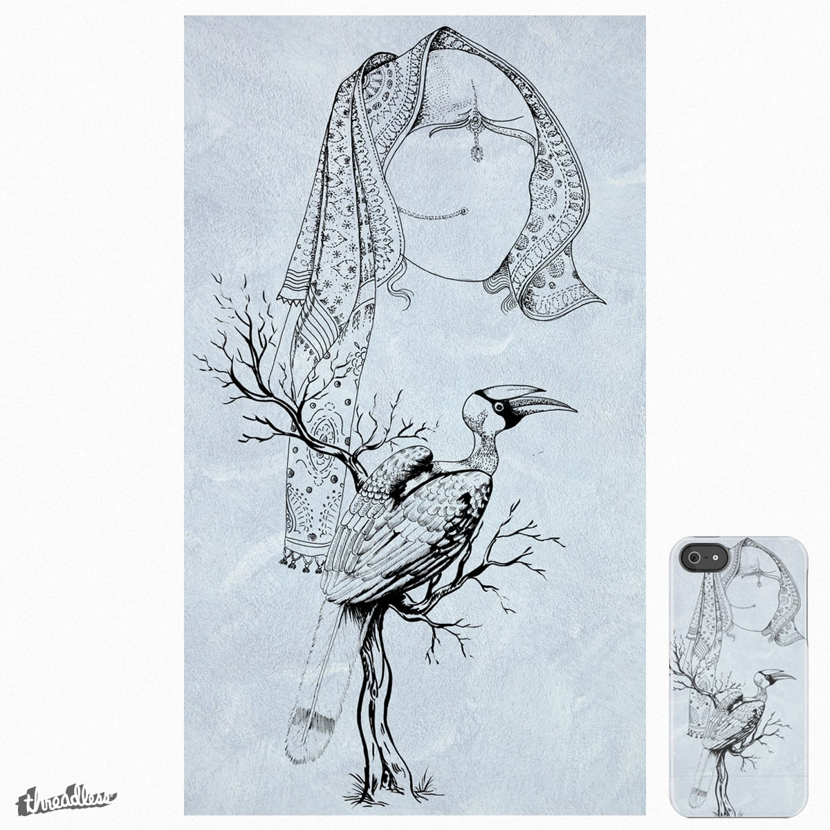 BRIDE AND HORNBILL by aspdesigns on Threadless