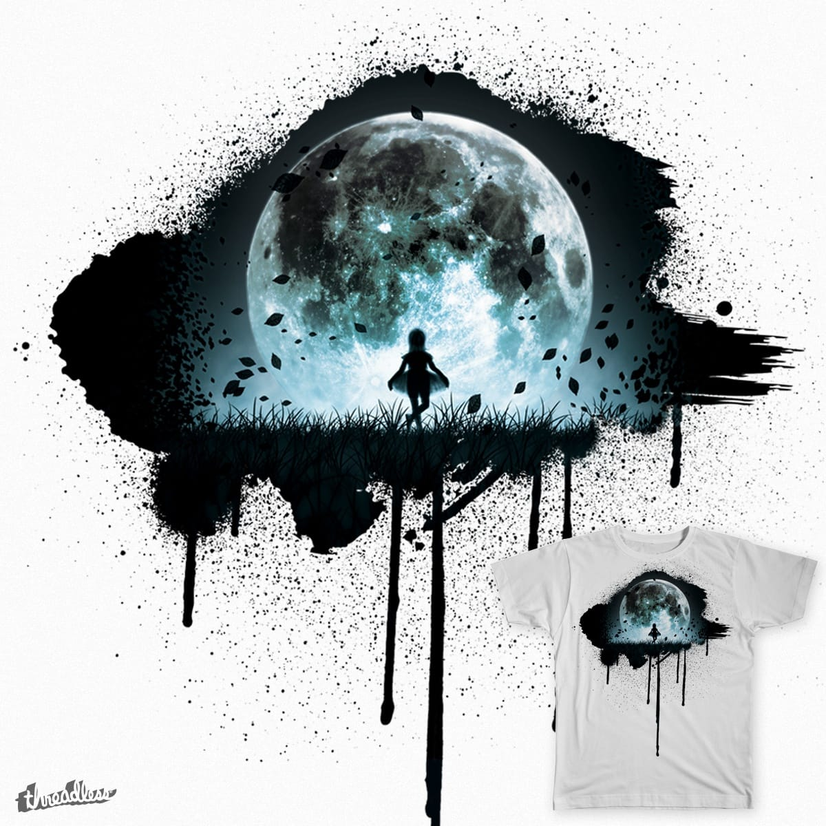 Curtsy to the Moon by Al Colbourne on Threadless