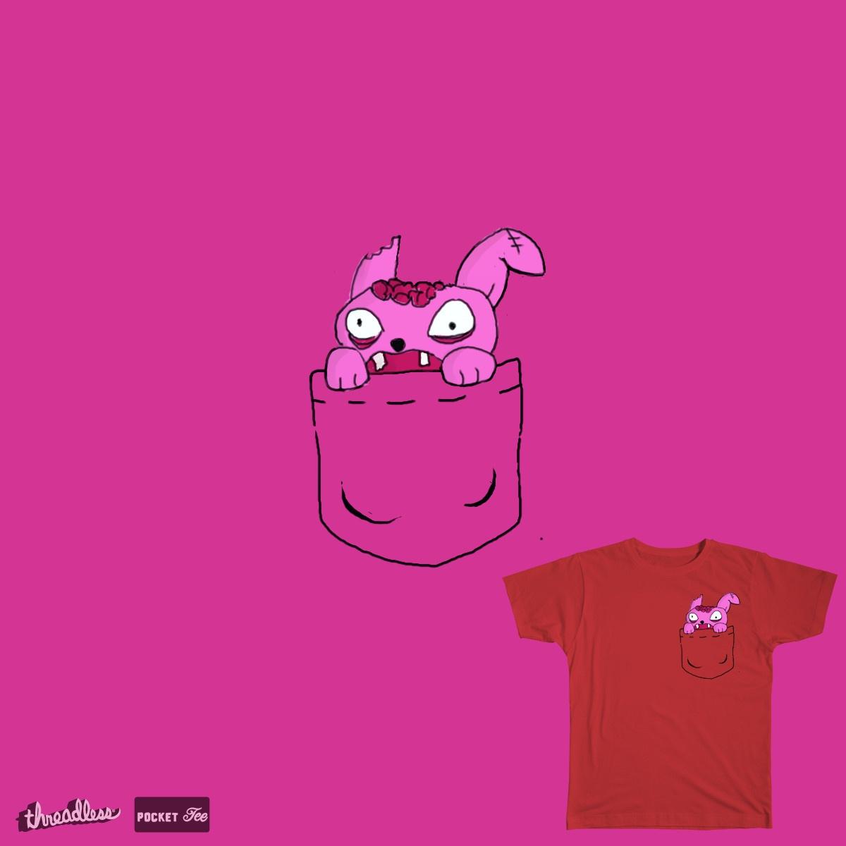 Pocket Zombie Rabbit by OneWeirdDude on Threadless