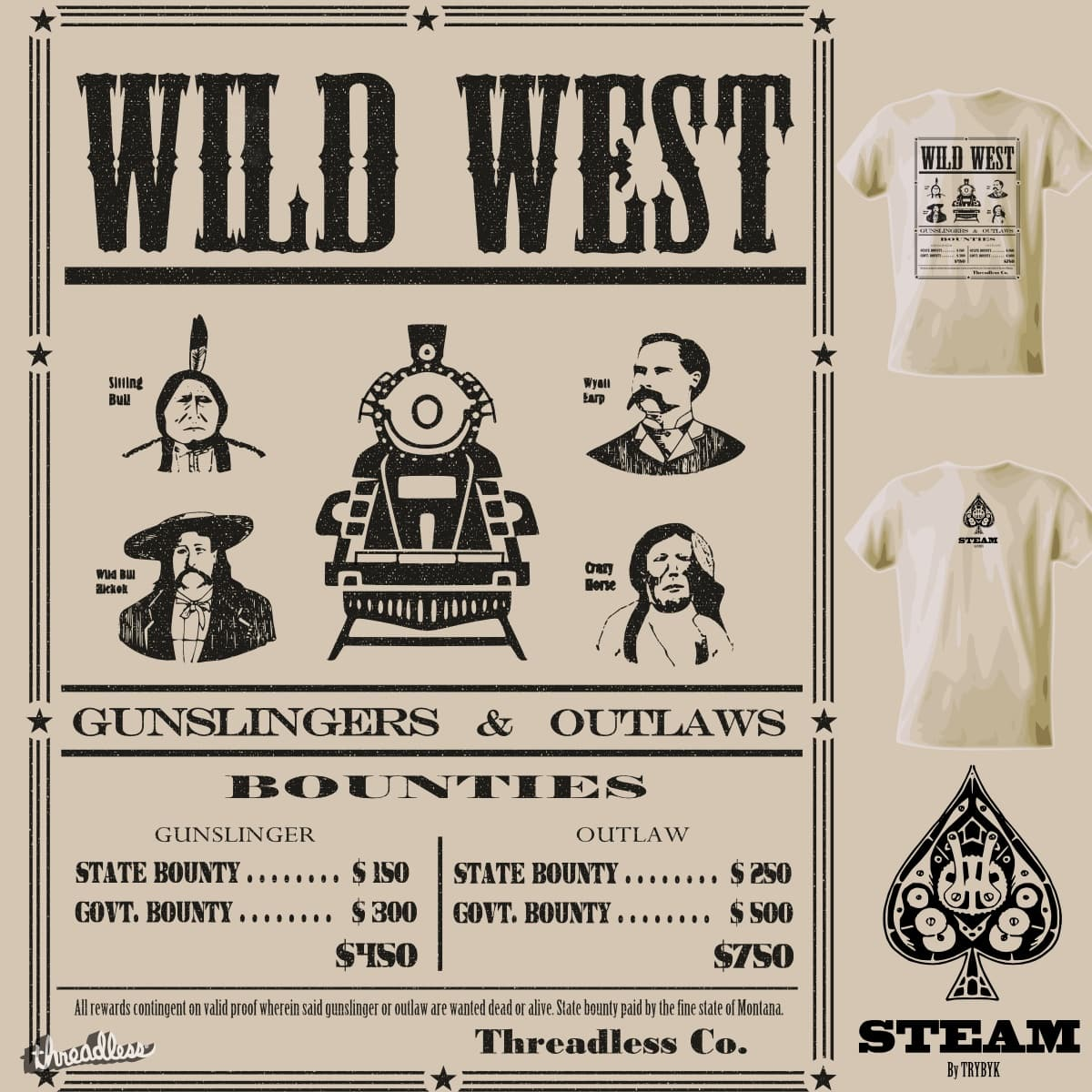 Wild West by TRYBYK on Threadless