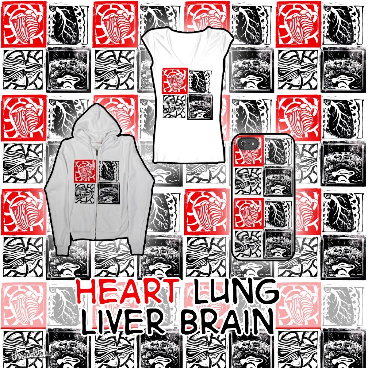 Heart Lung Liver Brain by Veitstanz on Threadless