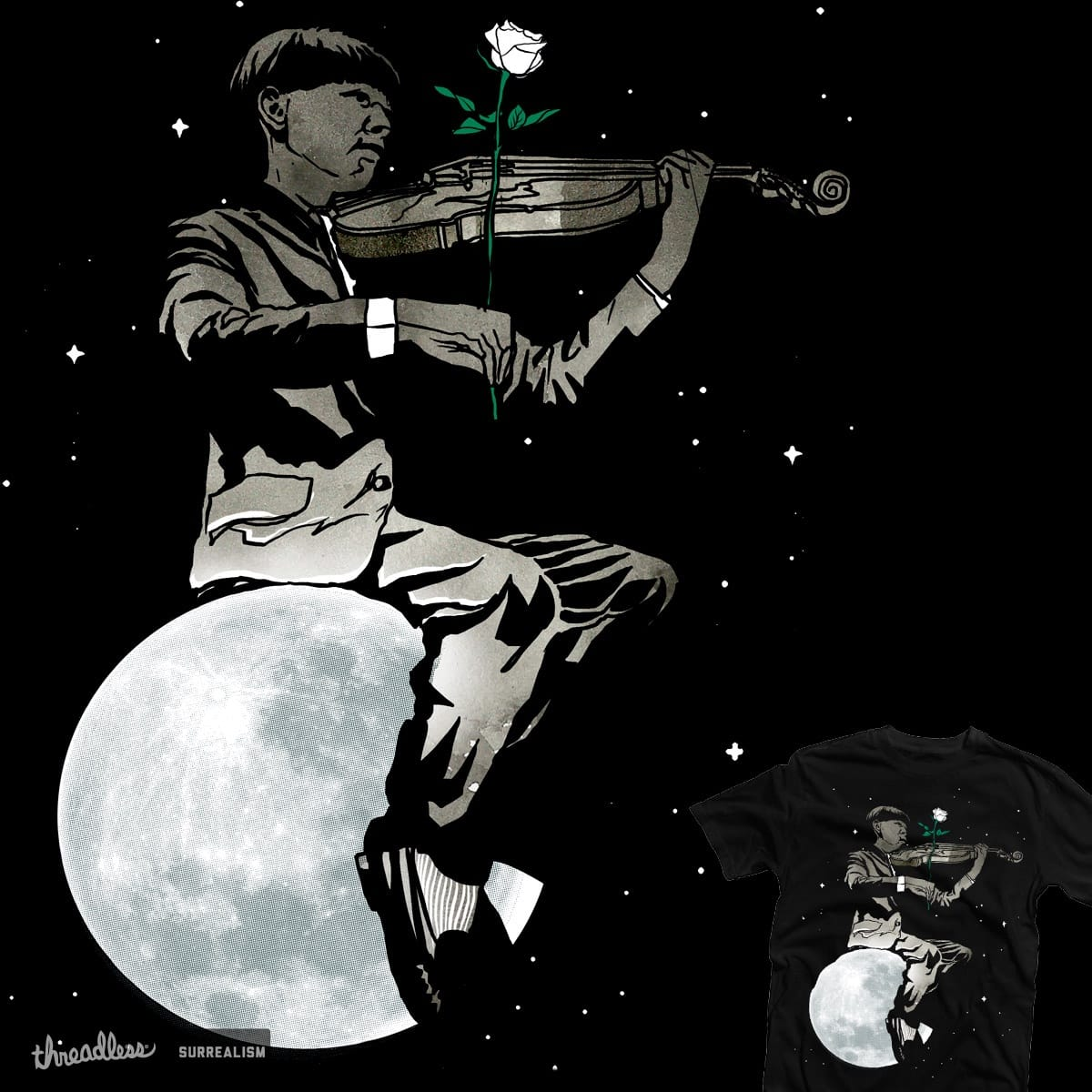 a song about the moon by rodisleyd on Threadless