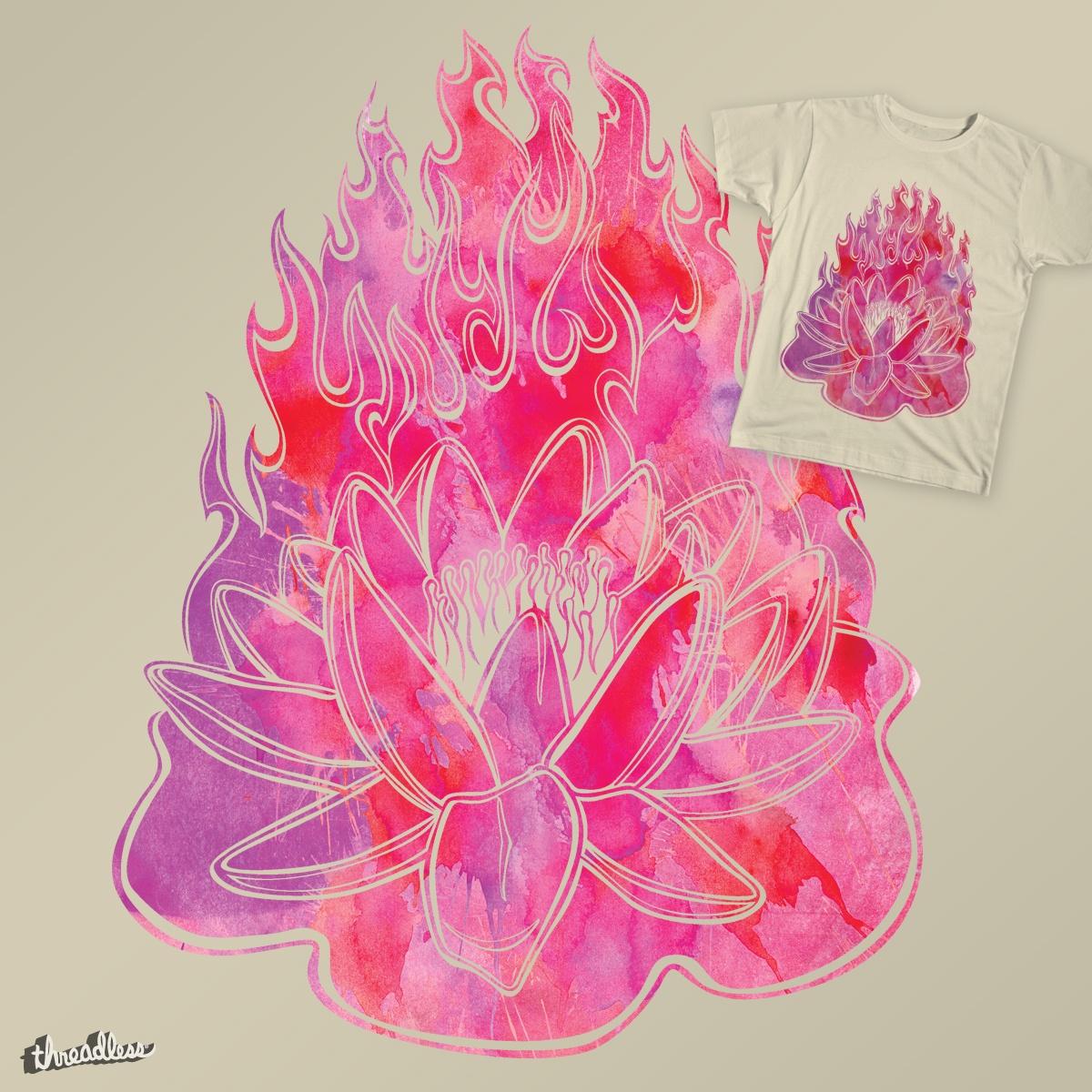 Lotus Fire by rivetsandink on Threadless