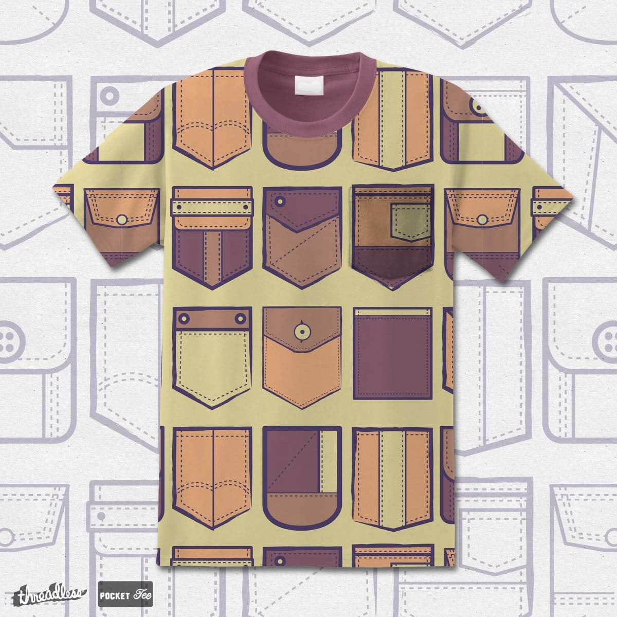 Camouflage Pocket Tee by pethco on Threadless