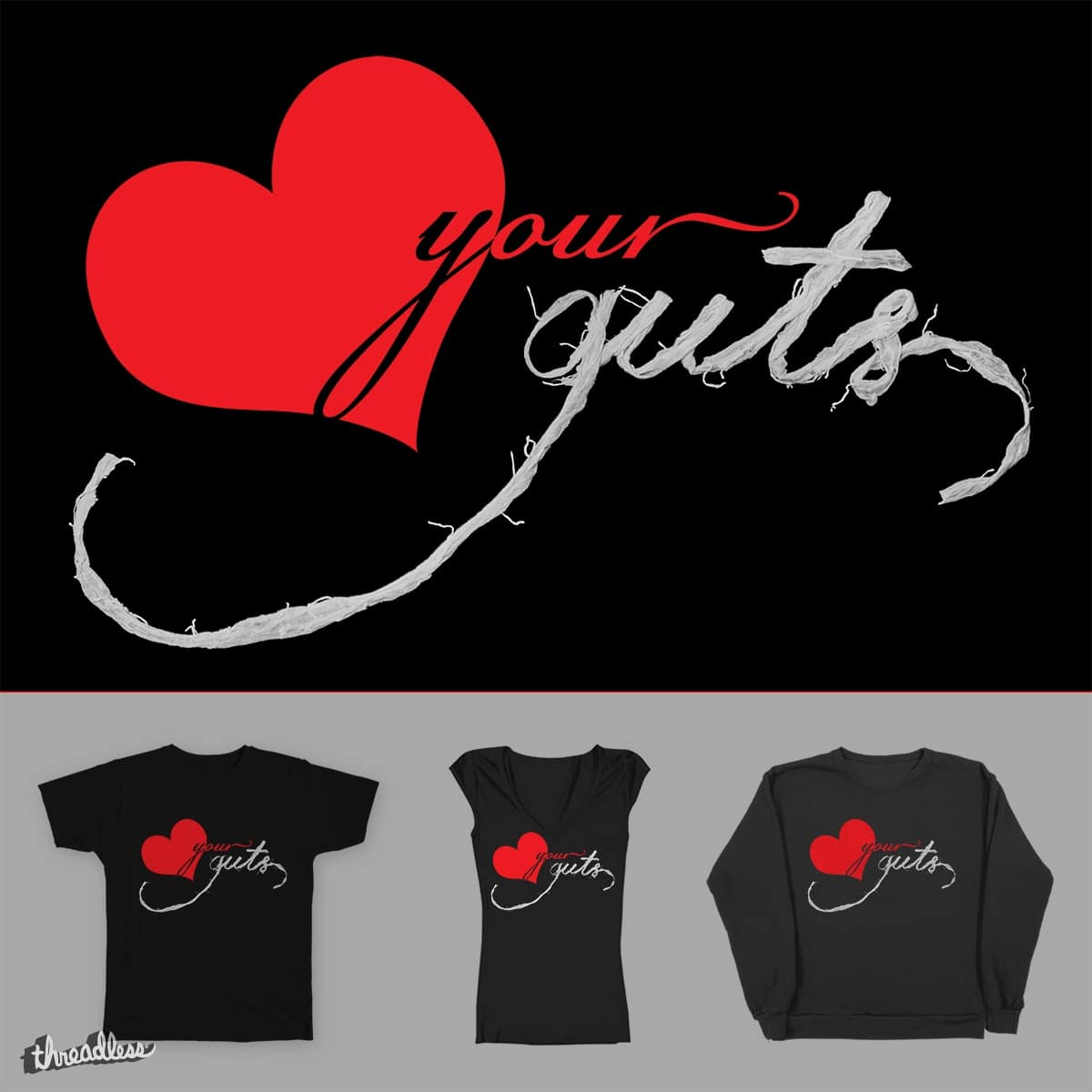 Love Your Guts by IntestineArt on Threadless
