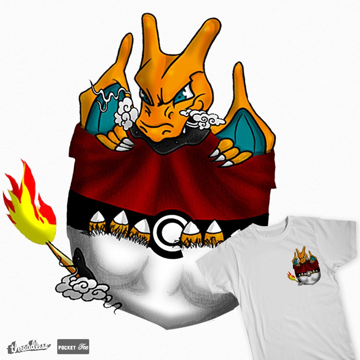 PocketMon: Charizard by iamsorchi on Threadless