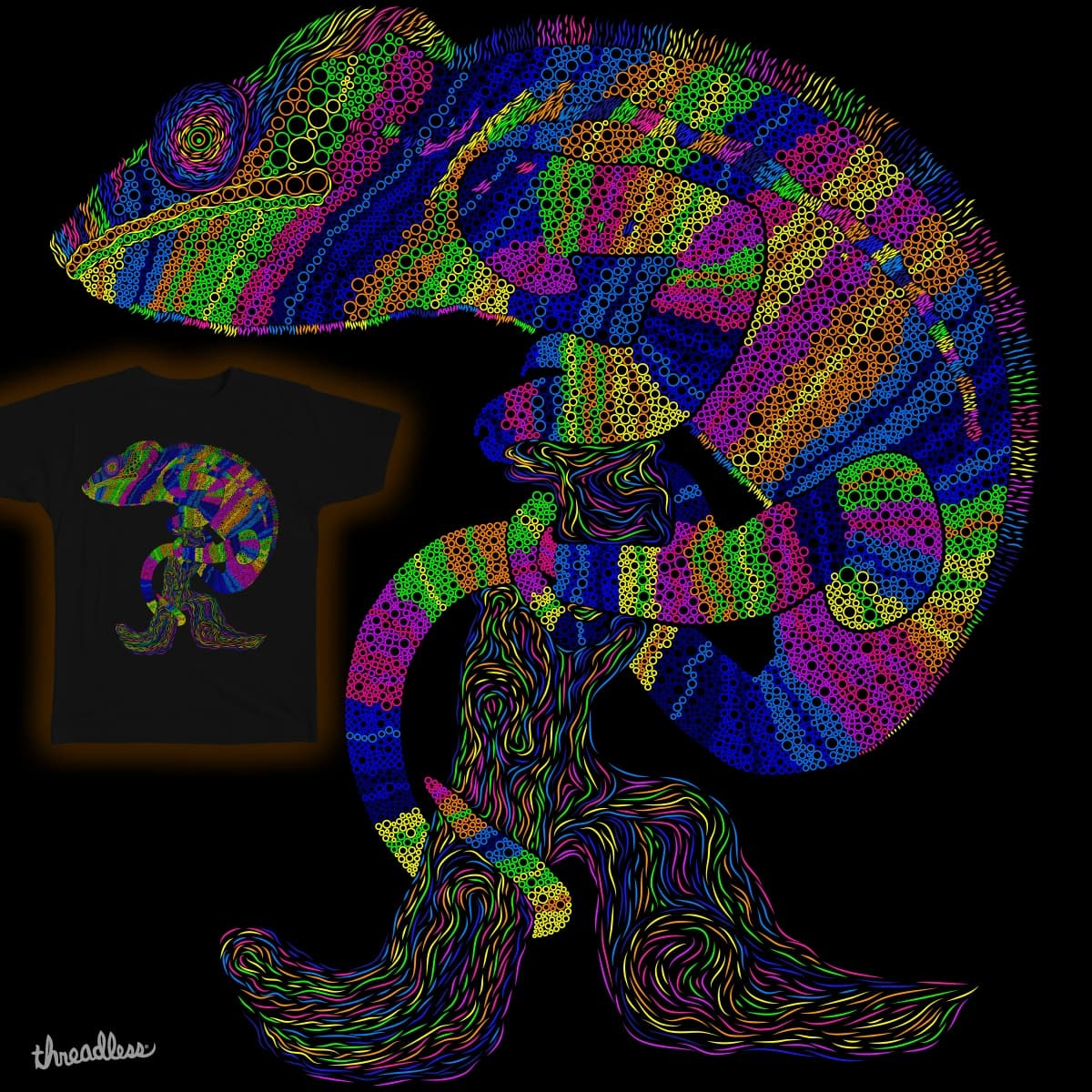 Chameleon by TrasherUA on Threadless