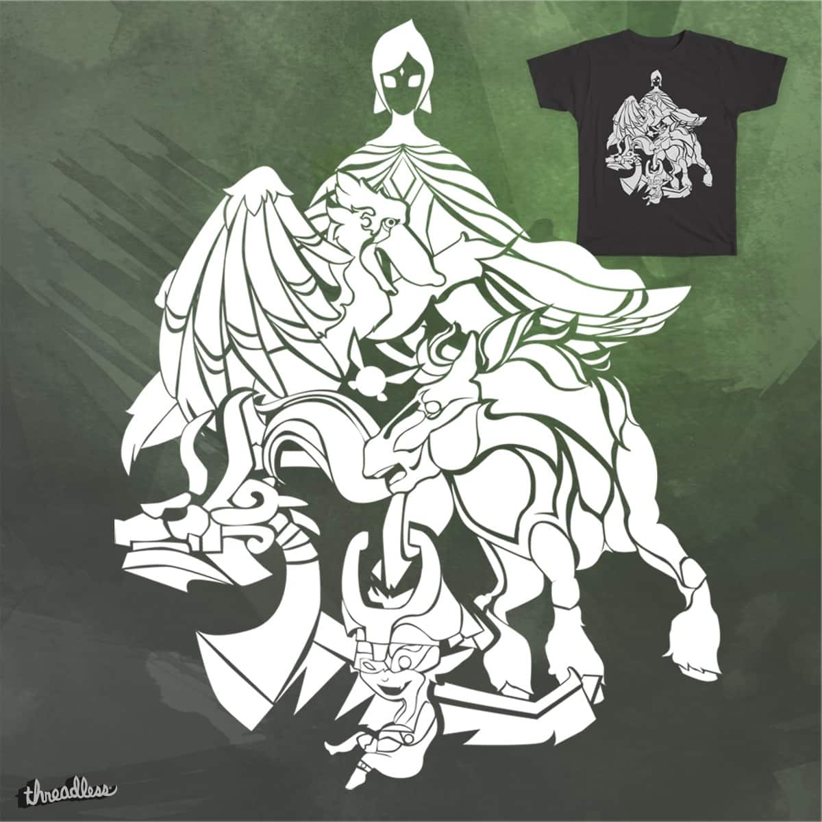 Legend of Zelda - Link's Companions by Surefoot on Threadless