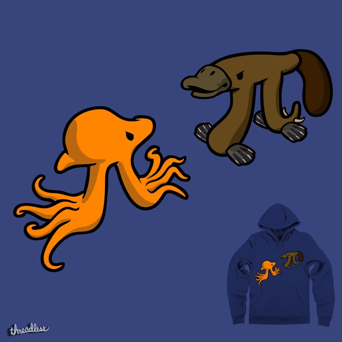 Octopi VS Platypi by jezkemp on Threadless