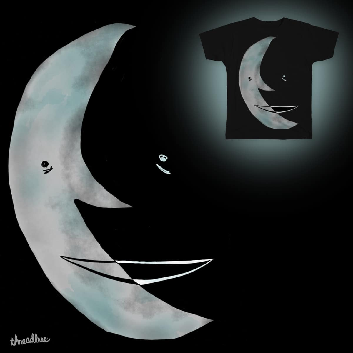 Sides of the Moon by teetys on Threadless